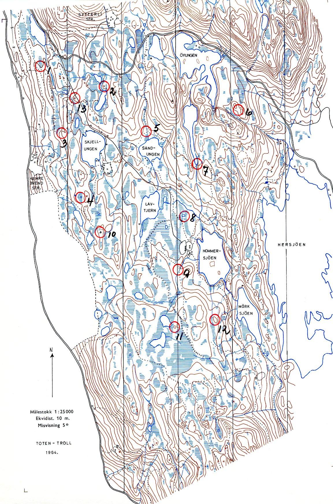 totenåsen kart Toten trimmen totenåsen kart